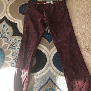 Burgundy Old Navy corduroy pants size 12